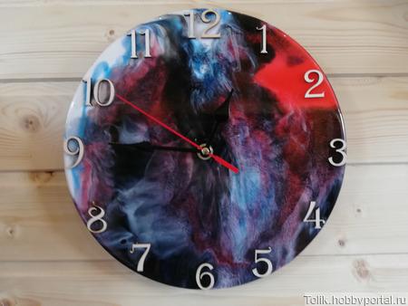 Настенные часы из эпоксидной смолы ручной работы на заказ