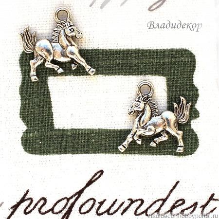 Накладка декор подвеска Ф-198 украшение конь ручной работы на заказ