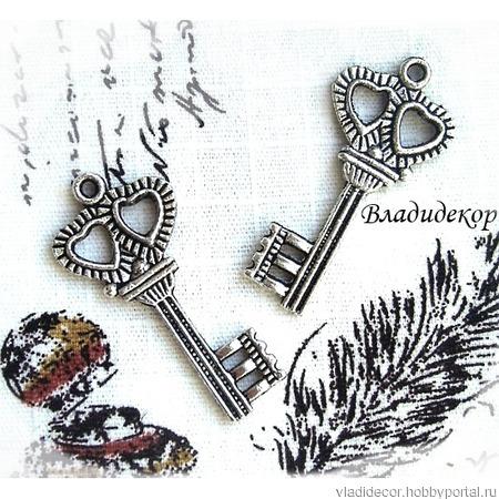 Накладка декор ключ подвеска Ф-156 украшение ручной работы на заказ