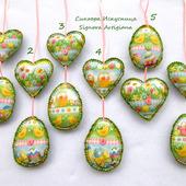 Весенние текстильные подвески Цветы, кролики, цыплята Пасха Весна: рукодельные товары