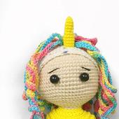 Игрушка амигуруми кукла Пони Единорог