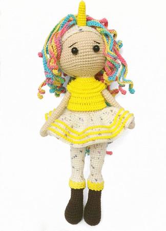 Игрушка амигуруми кукла Пони Единорог ручной работы на заказ