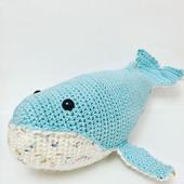 Игрушка амигуруми кит