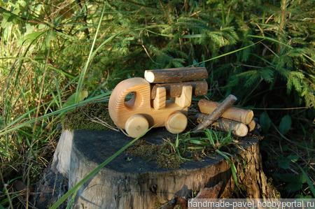 Деревянный лесовоз ручной работы на заказ