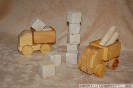 Деревянные грузовички ручной работы на заказ