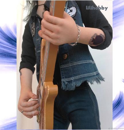 Кукла Бас гитарист Лемми ручной работы на заказ