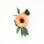 Брошь цветок персиковый оранжевый из фоамирана
