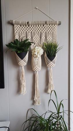 Кашпо для цветов (макраме) ручной работы на заказ