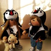 Парные интерьерные текстильные куклы