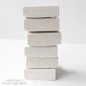 """Соляное натуральное мыло """"Белый квадрат"""""""