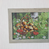 "Картина ""Корзинка с грибами"""