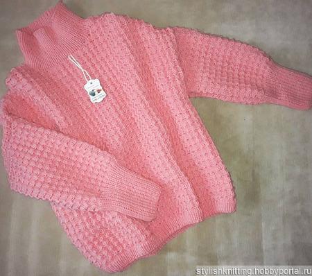 Пуловер оверсайз ручной работы на заказ