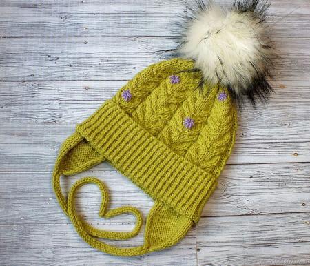 Детский комплект: шапочка с ушками и снуд ручной работы на заказ