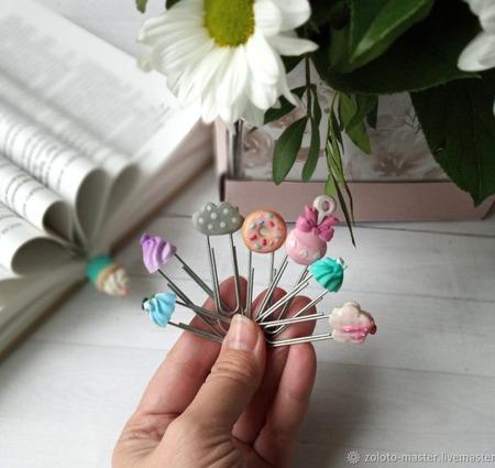 Скрепки-закладки с декором ручной работы на заказ