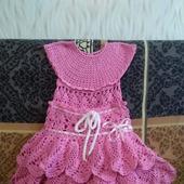 Детское платье юбка, шляпка, повязка на голову