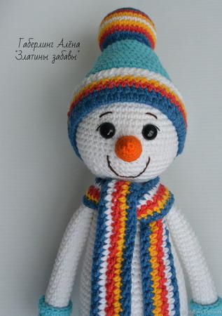 """Мастер-класс по созданию вязаной игрушки """"Снеговик с ёлкой"""" ручной работы на заказ"""