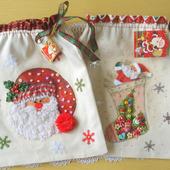 Мешочки для новогодних подарков в ассортименте