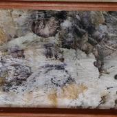 """Картина """"Капризы природы"""", экопринт на бумаге"""
