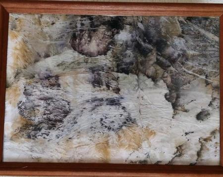 """Картина """"Капризы природы"""", экопринт на бумаге ручной работы на заказ"""