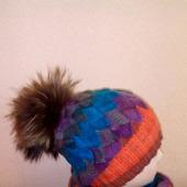 фото: шапочка спицами