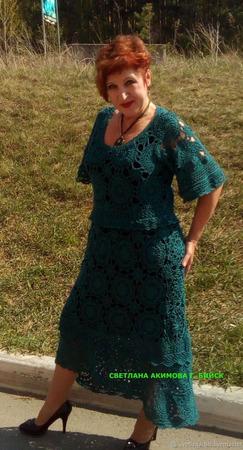 Платье ажурное ручной работы на заказ