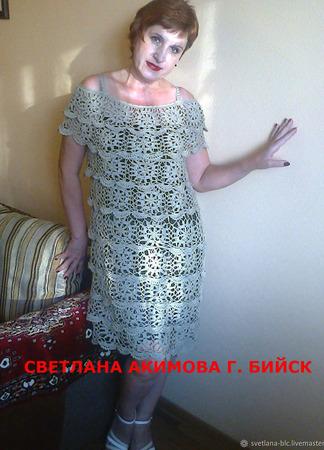 Платье нарядное ажурное ручной работы на заказ