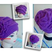 Шапки: шапка вязаная. шапка зимняя. шапка теплая. шапка спицами. шапка