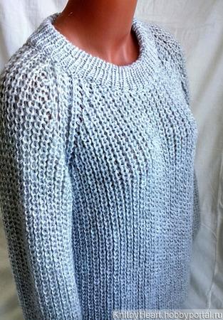 Базовый вязаный свитер в Москве ручной работы на заказ