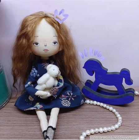 Текстильная, интерьерная кукла ручной работы ручной работы на заказ