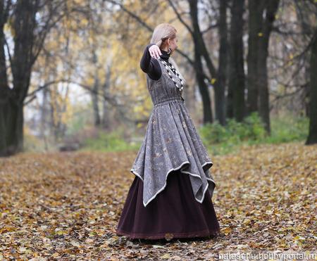 Платье-сарафан в стиле бохо на зиму ручной работы на заказ