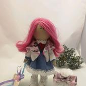 Кукла интерьерная- малышка с бантиком