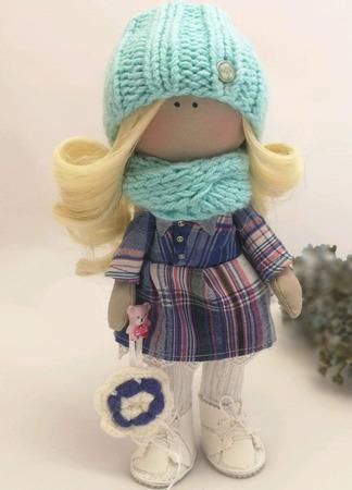 Кукла интерьерная мятная ручной работы на заказ
