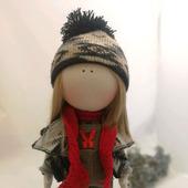 Кукла Тильда с лисичкой