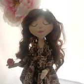 """Интерьерная кукла """"Шёлково-ягодное настроение"""""""