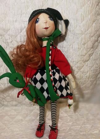 Кукла интерьерная кукла для игр и в подарок Алиса ручной работы на заказ