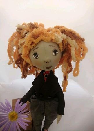 """Кукла интерьерная """"Внимательная  подружка"""" ручной работы на заказ"""