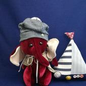 Мягкая игрушка Слонёнок Клюковка