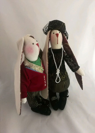 Пара зайцев ручной работы на заказ