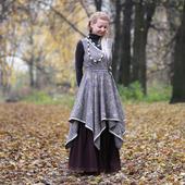 Платье-сарафан в стиле бохо на зиму