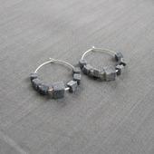 фото: серьги камни серебро