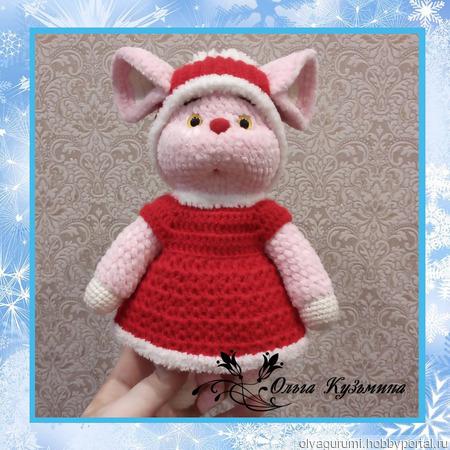 Мышка в новогоднем наряде ручной работы на заказ