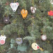 Набор вязаных елочных игрушек «Животные»