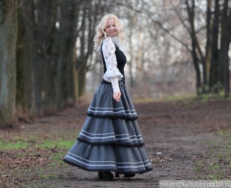 Шерстяная юбка в стиле бохо на зиму ручной работы на заказ