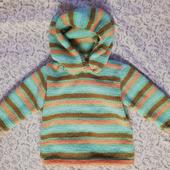 Вязаный пуловер для ребенка