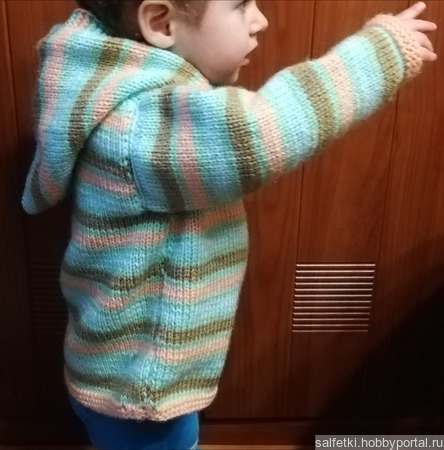 Вязаный пуловер для ребенка ручной работы на заказ