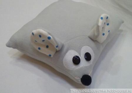 Мышка-подушка ручной работы на заказ