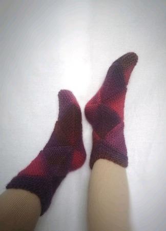 """Вязаные носки """"Пэчворк"""" ручной работы на заказ"""