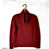 Бордовый свитер из 100% мериносовой шерсти