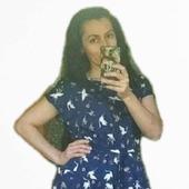 """Платье с поясом """"Журавли на синем"""""""