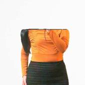 Теплая юбка-карандаш